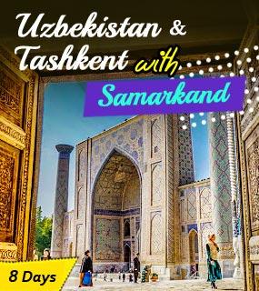 Uzbekistan and Tashkent with Samarkand