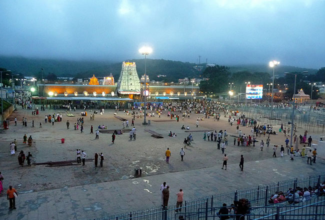 Venkateswara at tirupati temple
