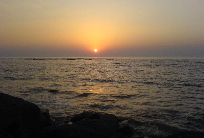 Devka beach daman sunset