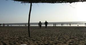Jampore beach daman at evening