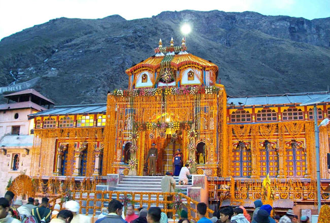 Badrinath temple decoration
