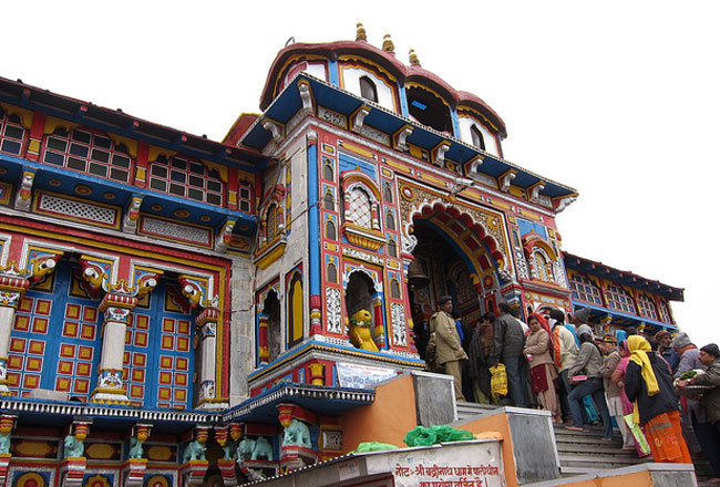 Badrinath temple side view