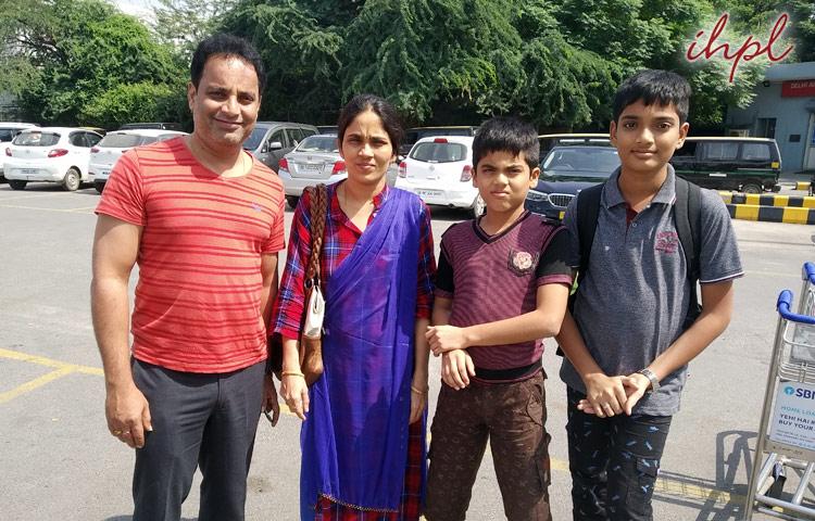 Mr. Lingaraju & family