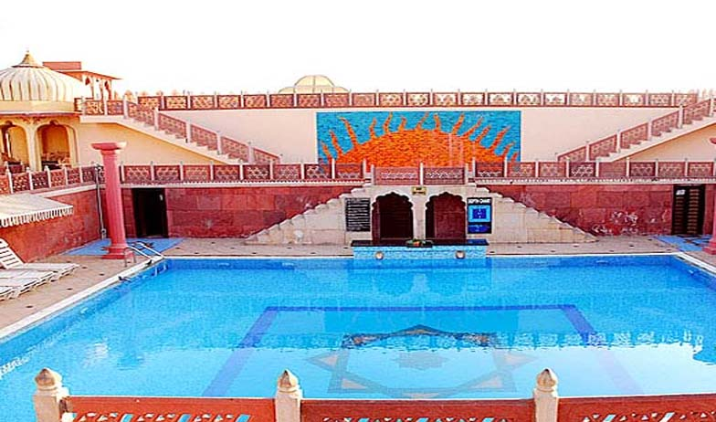 Swimming Pool in Chokhi Dhani Hotel, Jaipur