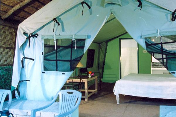 Deluxe Swiss Cottages in Corbett Ramganga Resort