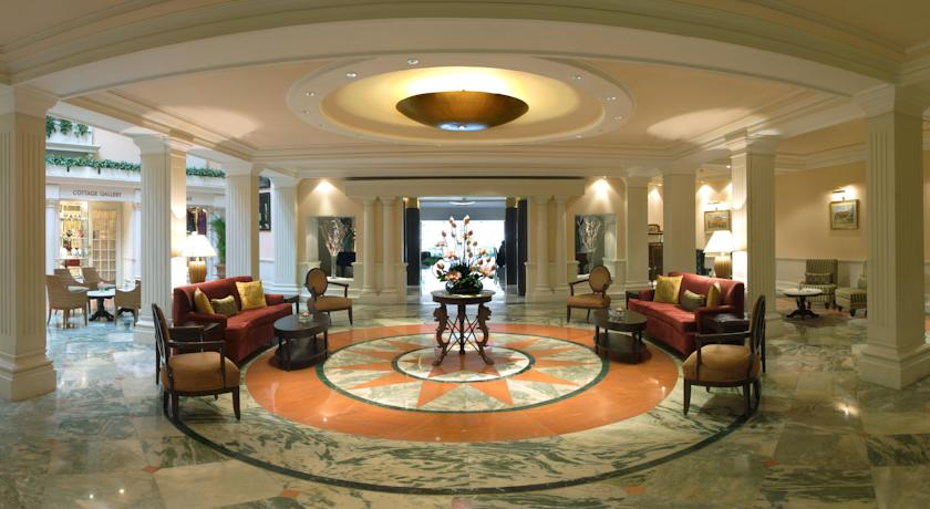 Hotel Reception in The Claridges, New Delhi