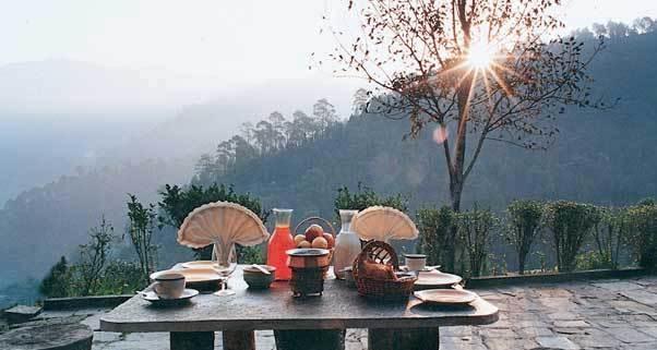 Dining in Hotel Club Mahindra Binsar Valley