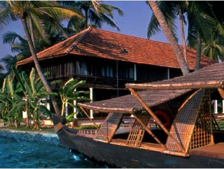 Resort Lake in Coconut Lagoon In Kumarakom