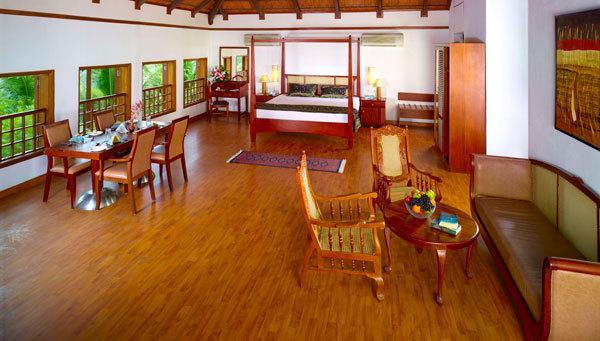 cottages in Estuary Island Resort Poovar
