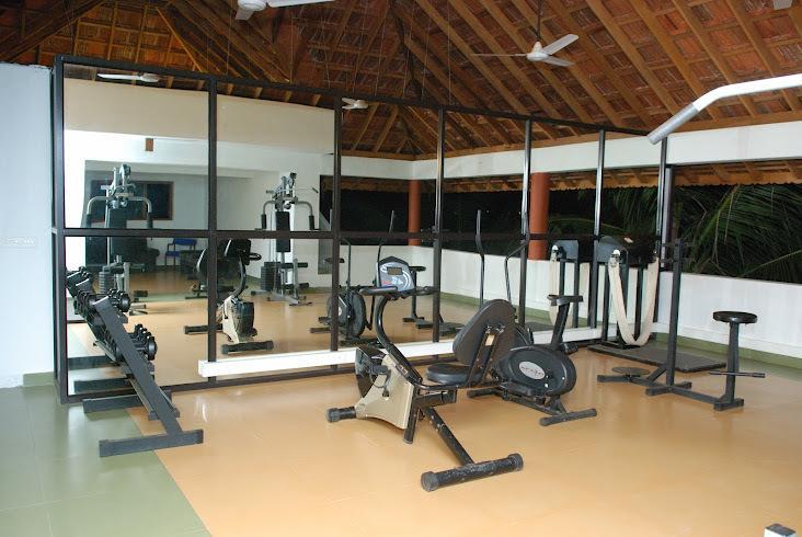 Gym in Estuary Island Resort Poovar