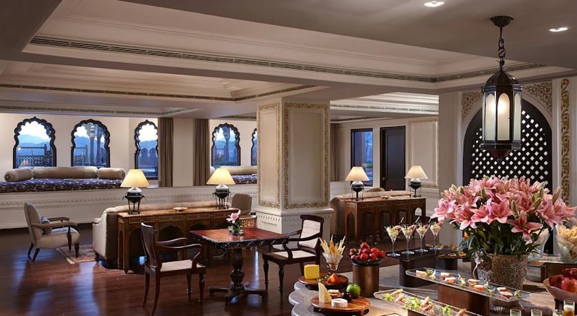 lobby in Fairmont Jaipur Hotel
