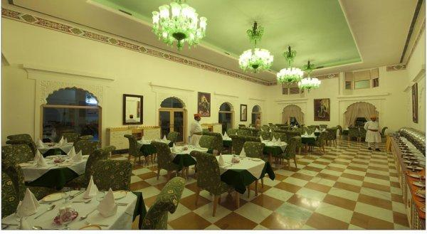 Dining in Fort Rajwada Hotel, Jaisalmer