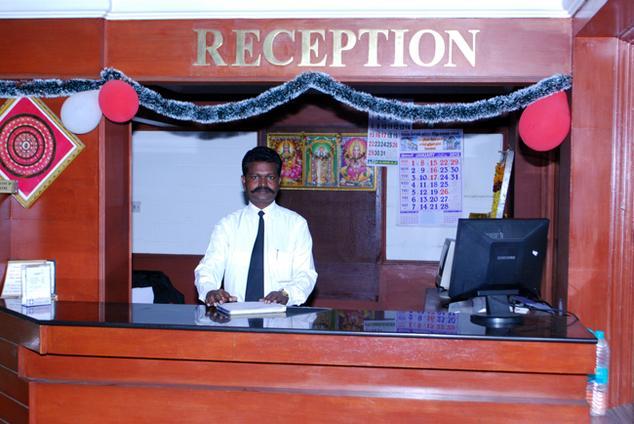 Reception in Golden Parks Inn Kodaikanal
