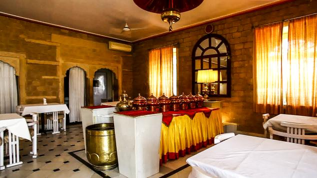 Dining in Hotel Himmatgarh Palace