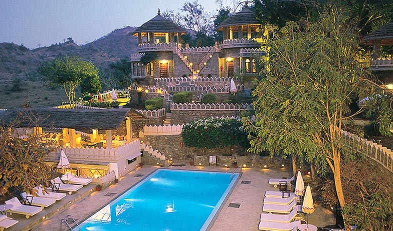 Swimming in Hotel Aodhi Kumbhalgarh