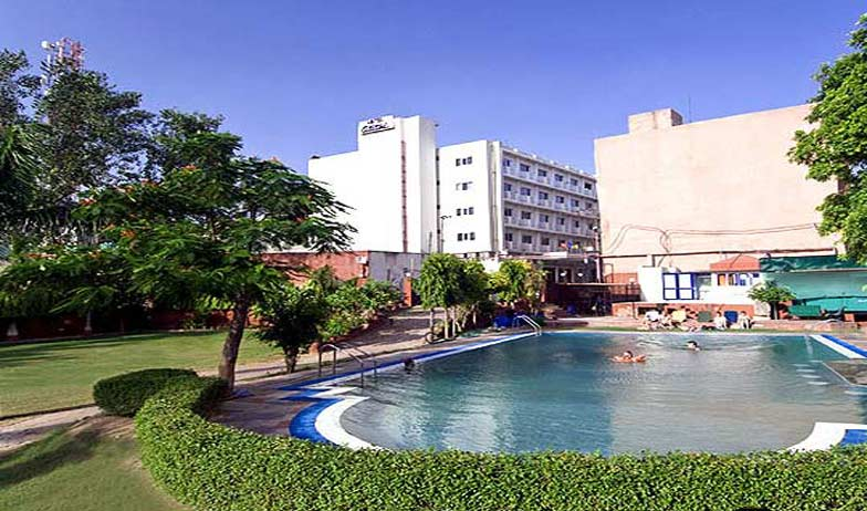 Swimming in Hotel Atithi Agra