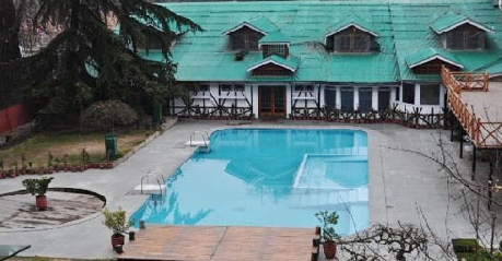 Swimming in Hotel Broadway In Srinagar