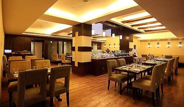 Dining in Hotel Crossroads, Gurgaon