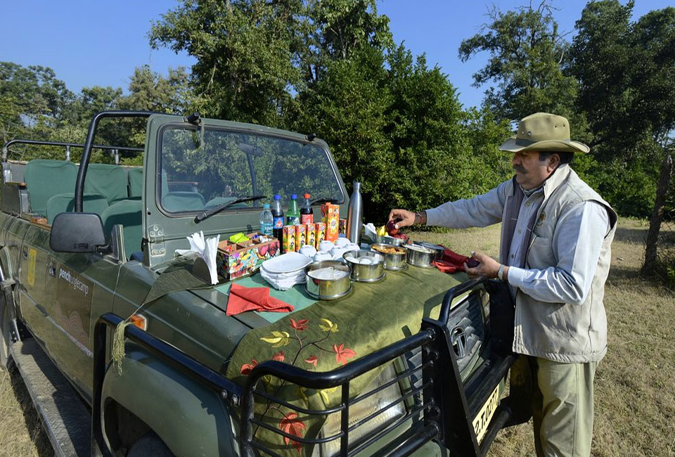tadoba-jungle-camp-lunch-with-car
