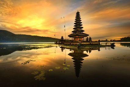 Pura Ulun Danu Bratan Hindu temple in Indonesia