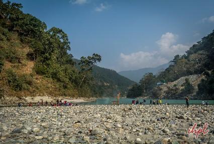 Rafting in river Teesta