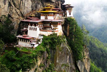 Paro Taktsang Buddhist temple in Bhutan