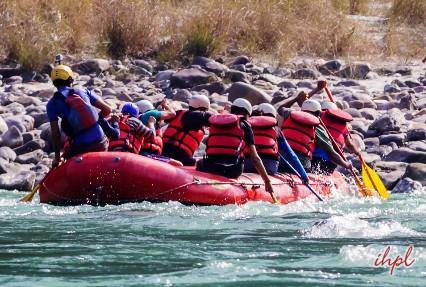 rafting in Brahmaputra River