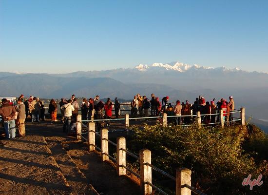 Tiger Hill in Darjeeling