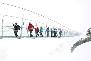 Titlis Cliff Walk Pedestrian bridge in Engelberg, Switzerland
