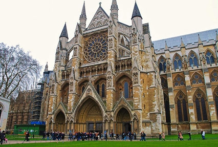 Westminster Abbey Collegiate church in London, England