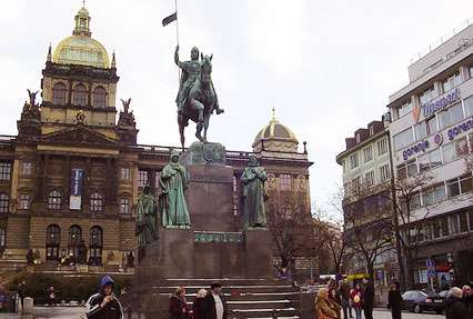 Wenceslas Square Plaza in Prague