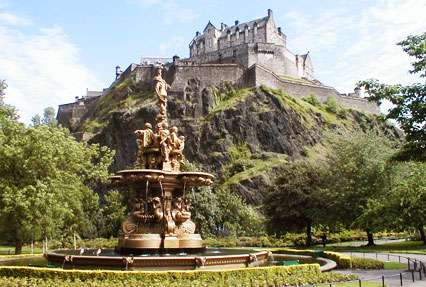 Princes Street Gardens Park in Edinburgh