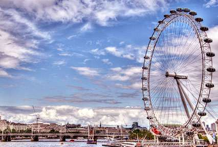 Ferris wheel in London, United Kingdom