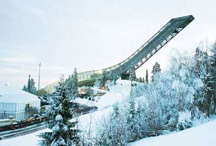 Holmholmenkollbakken Ski jumping hill in Oslo, Norway