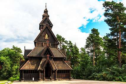 Gol Stave Church in Oslo, Norway