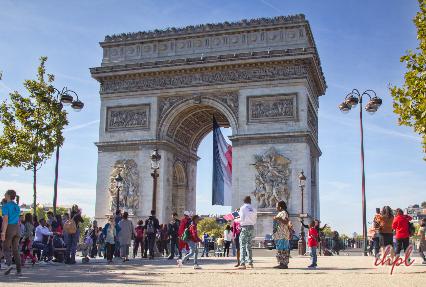 Arc de Triomphe Monument in Paris, France