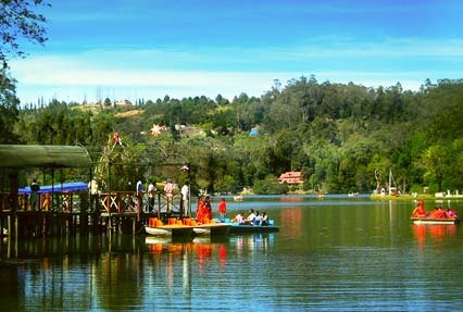 Boat riding at Kodai Lake