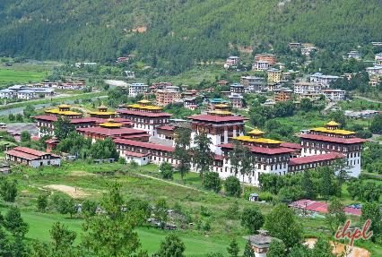 Tashichho Dzong Monastery in Thimphu, Bhutan