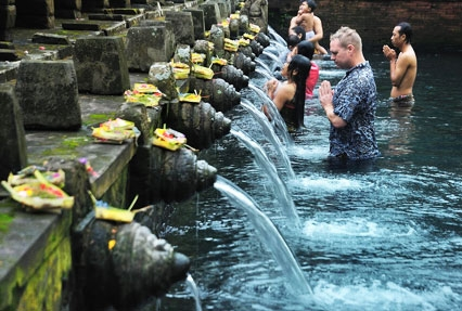 Tirta Empul Hindu temple in Indonesia