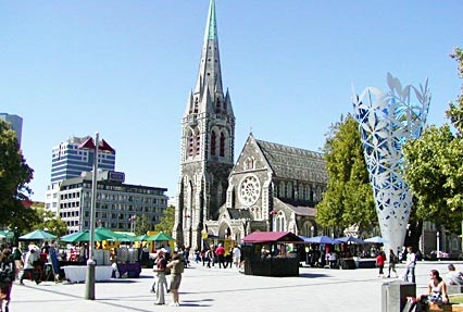 Cathedral in Christchurch, New Zealand