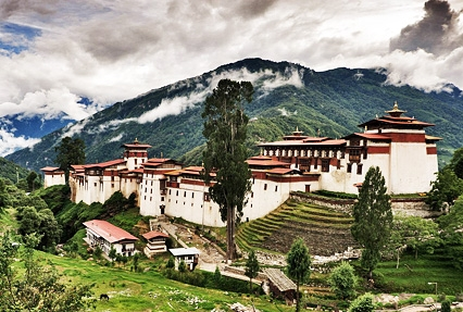 Trongsa Dzong in Trongsa, Bhutan