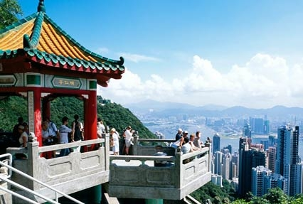 Victoria Peak Hill in Hong Kong