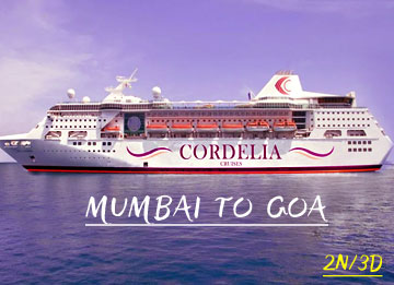 3 Days Cordelia Cruise - Mumbai Goa Mumbai