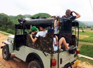 Explore the villages in a Jeep