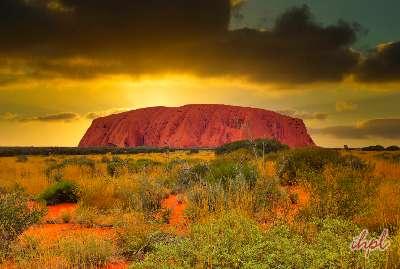 sunset at the Uluru