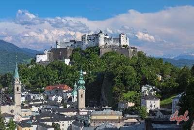 Hohensalzburg Fortress Castle in Salzburg, Austria