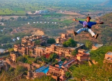 Flying Fox at Neemrana