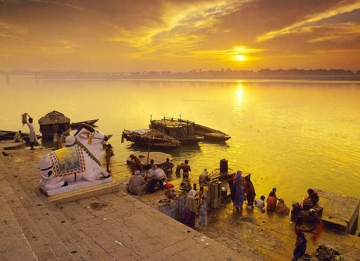 Sunset view at ghat