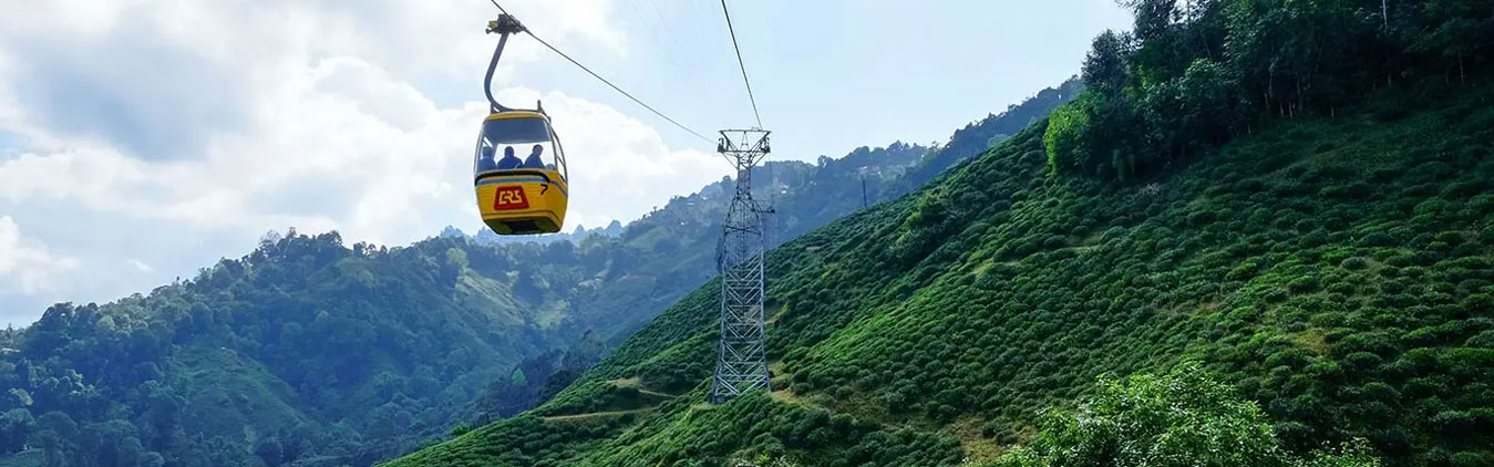 Gangtok view with cable car