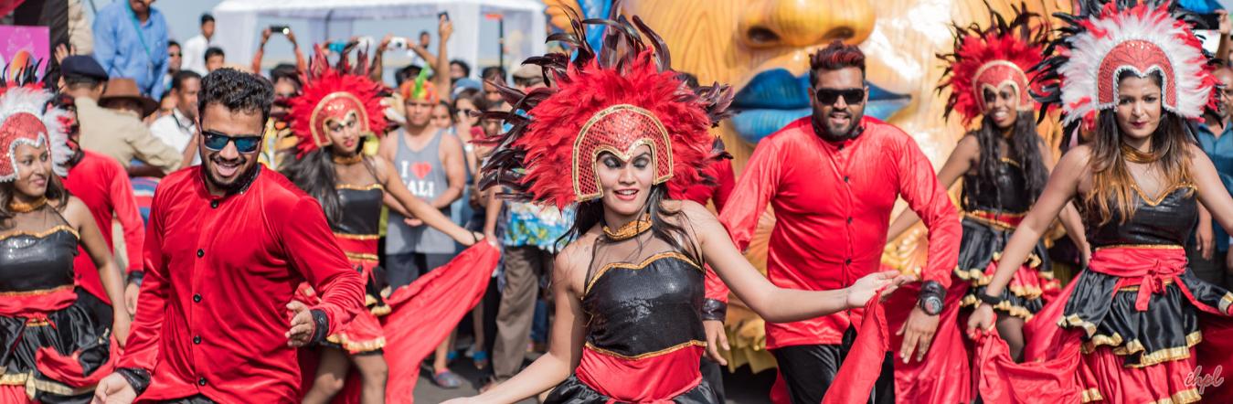 goan carnival with backwaters